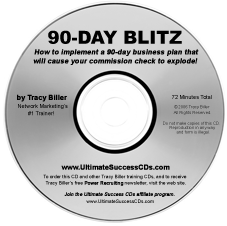 Network Marketing MLM 90-Day Blitz CD by Tracy Biller