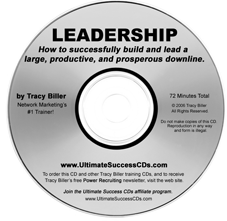Network Marketing MLM Leadership CD by Tracy Biller