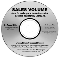 Network Marketing MLM Sales Volume CD by Tracy Biller