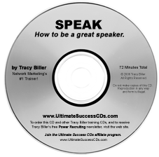 Network Marketing MLM Speak CD by Tracy Biller